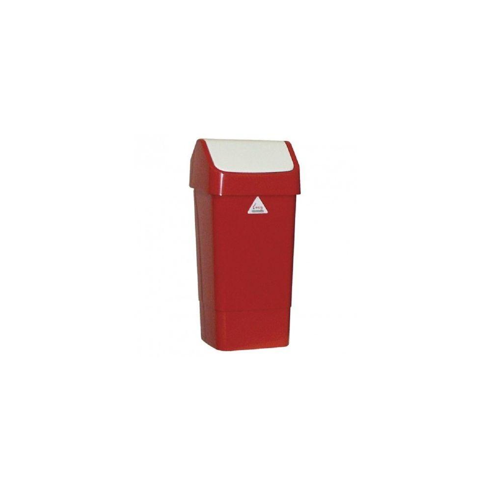 Materiel Chr Pro Poubelle rouge à couvercle battant SYR 50 L -