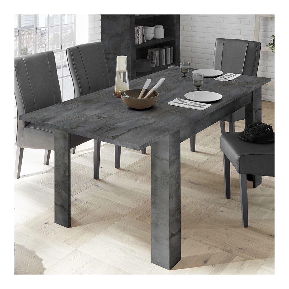 Sofamobili Table extensible 140 cm grise SERENA