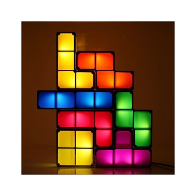 Shopinnov - Lampe Tetris 3D modifiable - Lampes à poser