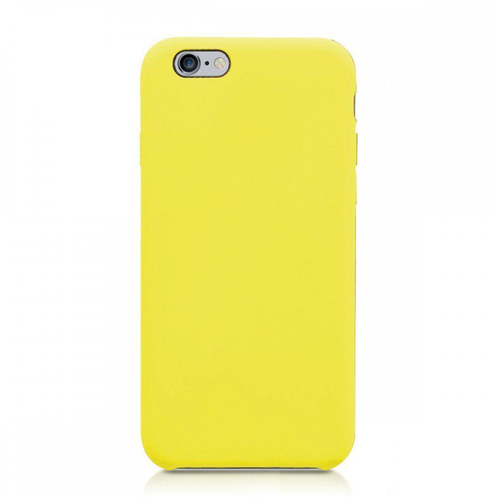 La Coque Francaise - Coque iPhone 6/6S silicone liquide Jaune Fluo ...
