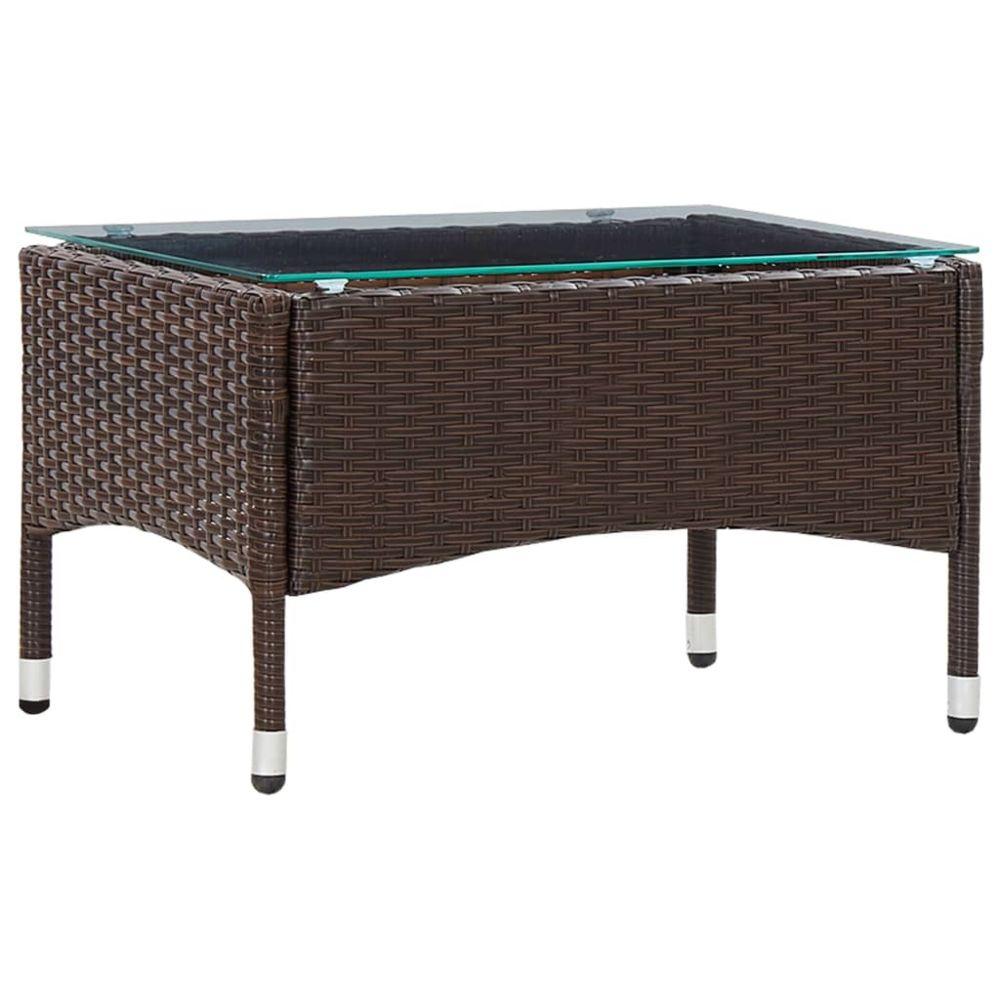 Vidaxl vidaXL Table basse Marron 60x40x36 cm Résine tressée
