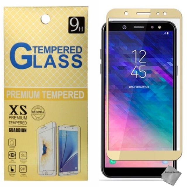 Htdmobiles - Film de protection verre trempe incurve integral Samsung Galaxy A6 (2018) - OR - Protection écran smartphone