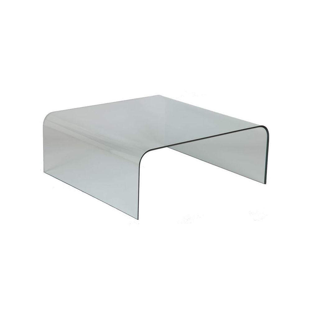 Dansmamaison Table basse carrée en Verre - GRIB - L 104 x l 104 x H 41 cm
