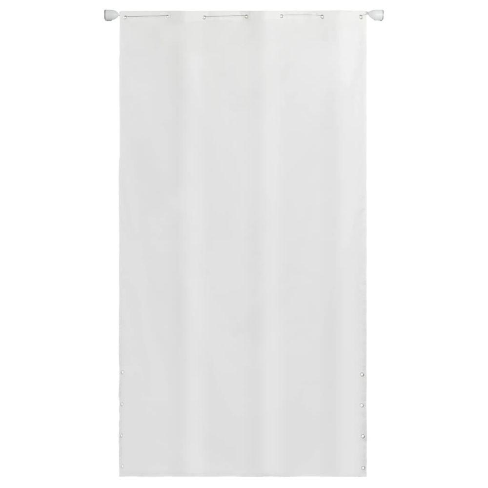 Vidaxl Écran de balcon en tissu Oxford 140 x 240 cm Blanc - Pelouses et jardins - Vie en extérieur - Parasols et voiles d'ombra