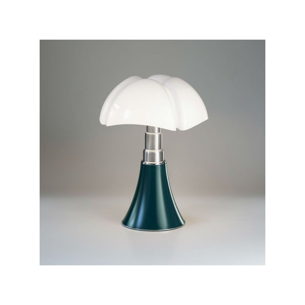 Martinelli Luce PIPISTRELLO MEDIUM-Lampe Dimmer LED pied télescopique H50-62cm Vert Agave Martinelli Luce - designé par Gae Aulenti