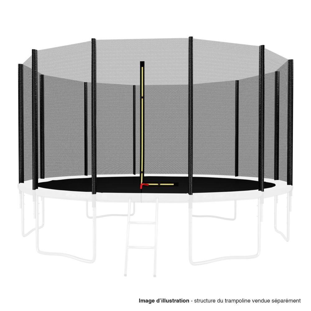 Kaia Sports Filet de sécurité extérieur Universel pour trampoline - avec bouchons hauts de perches : ø 13Ft, 12 Perches