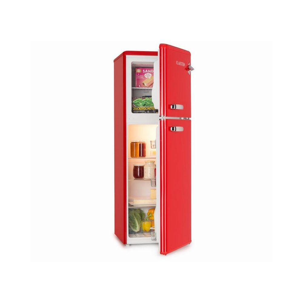 Klarstein Klarstein Audrey Combiné réfrigérateur 97L congélateur 39L A+ look rétro rouge Klarstein