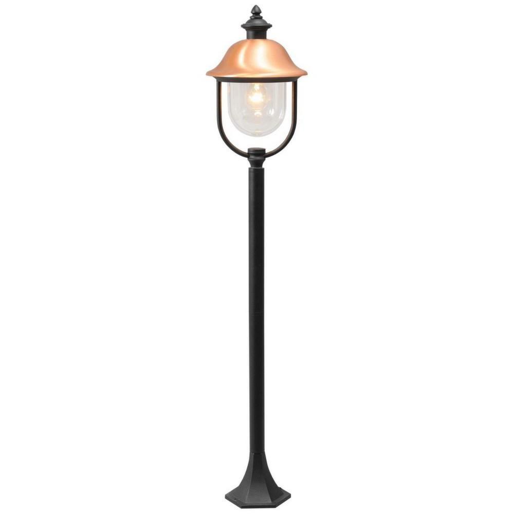 Mw Light Lampe d'extérieur sur pied rétro noire et cuivrée