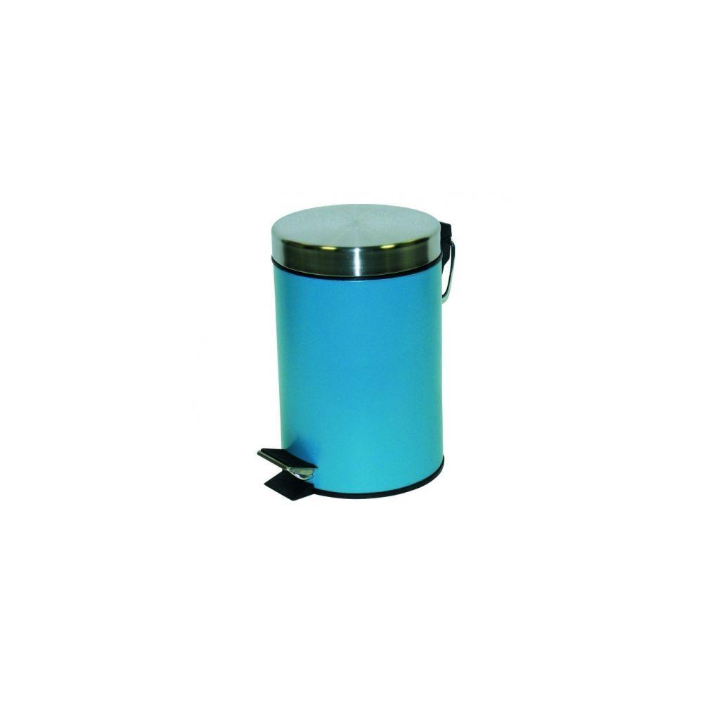 Msv Poubelle metal 12 litres bleue