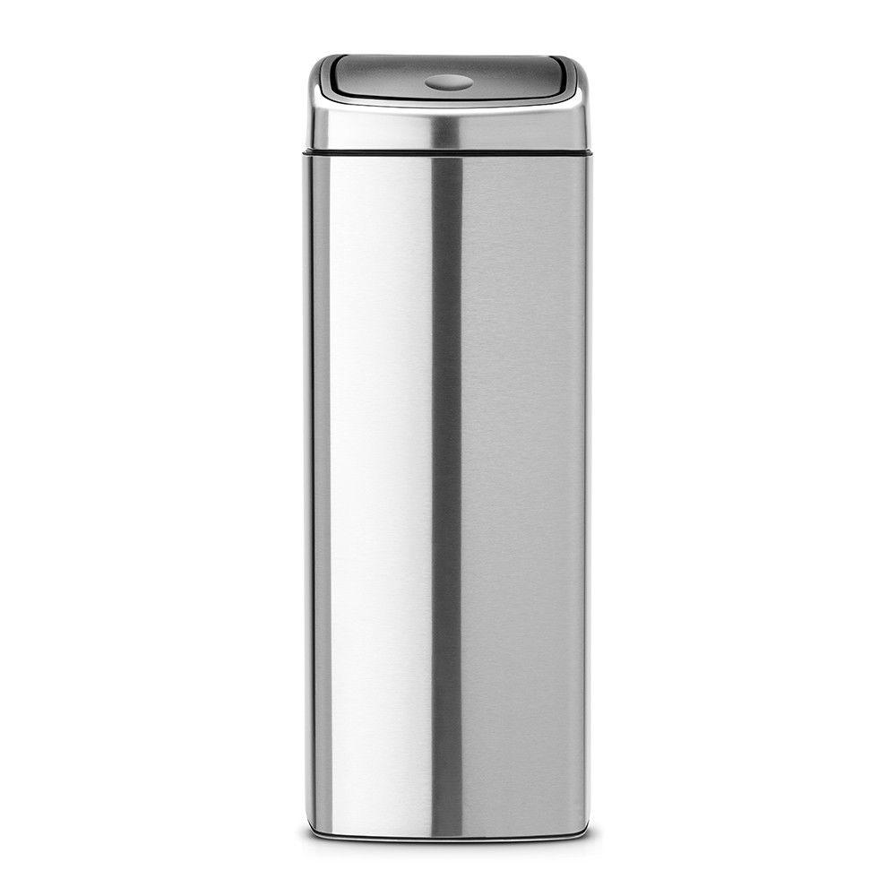BRABANTIA Poubelle rectangulaire Touch Bin 25 litres