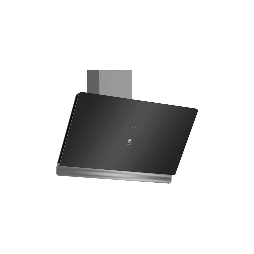 Totalcadeau Hotte standard 90 cm 840 m3/h 55 dB 163W noire - Illumination LED 90 x 47,3 x 54,8 cm 3 Vitesses
