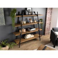 etagère fer et bois pyramidale tv
