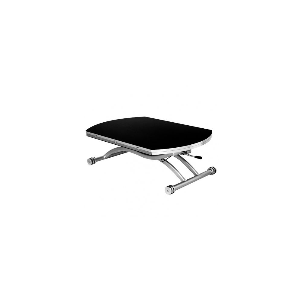 Giovanni Table basse relevable Colombia verre noir