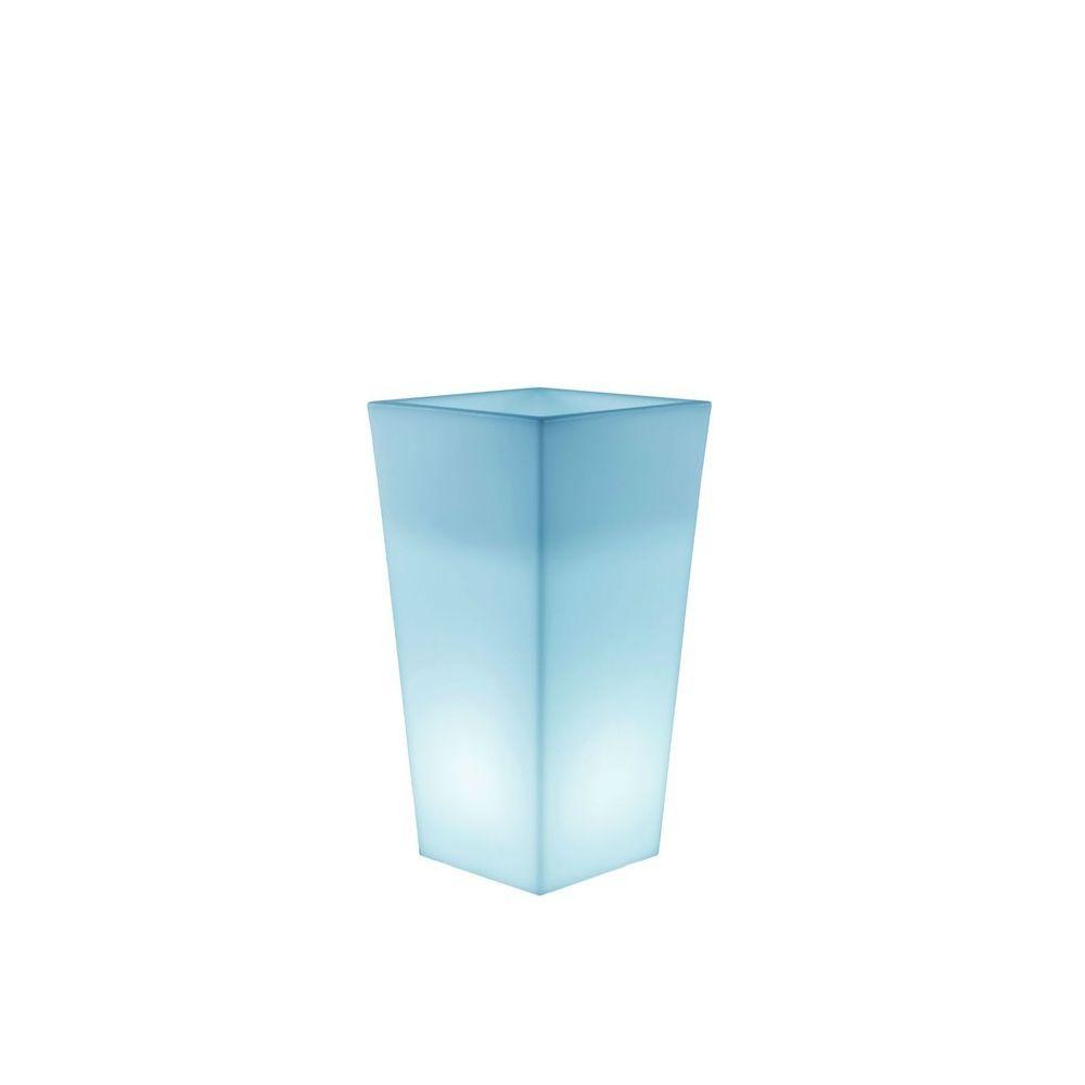 New Garden MELISA-Pot lumineux LED d'extérieur RGB solaire rechargeable H58cm Blanc New Garden