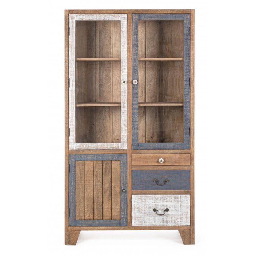 Pegane Buffet avec 3 portes et 3 tiroirs en bois - Dim : L 100 x P 40 x H 185 cm -PEGANE