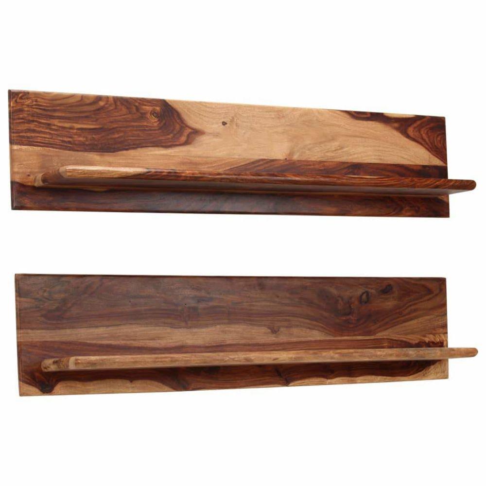 Helloshop26 Étagère armoire meuble design murales 2 pcs 118 cm bois massif 2702234/2
