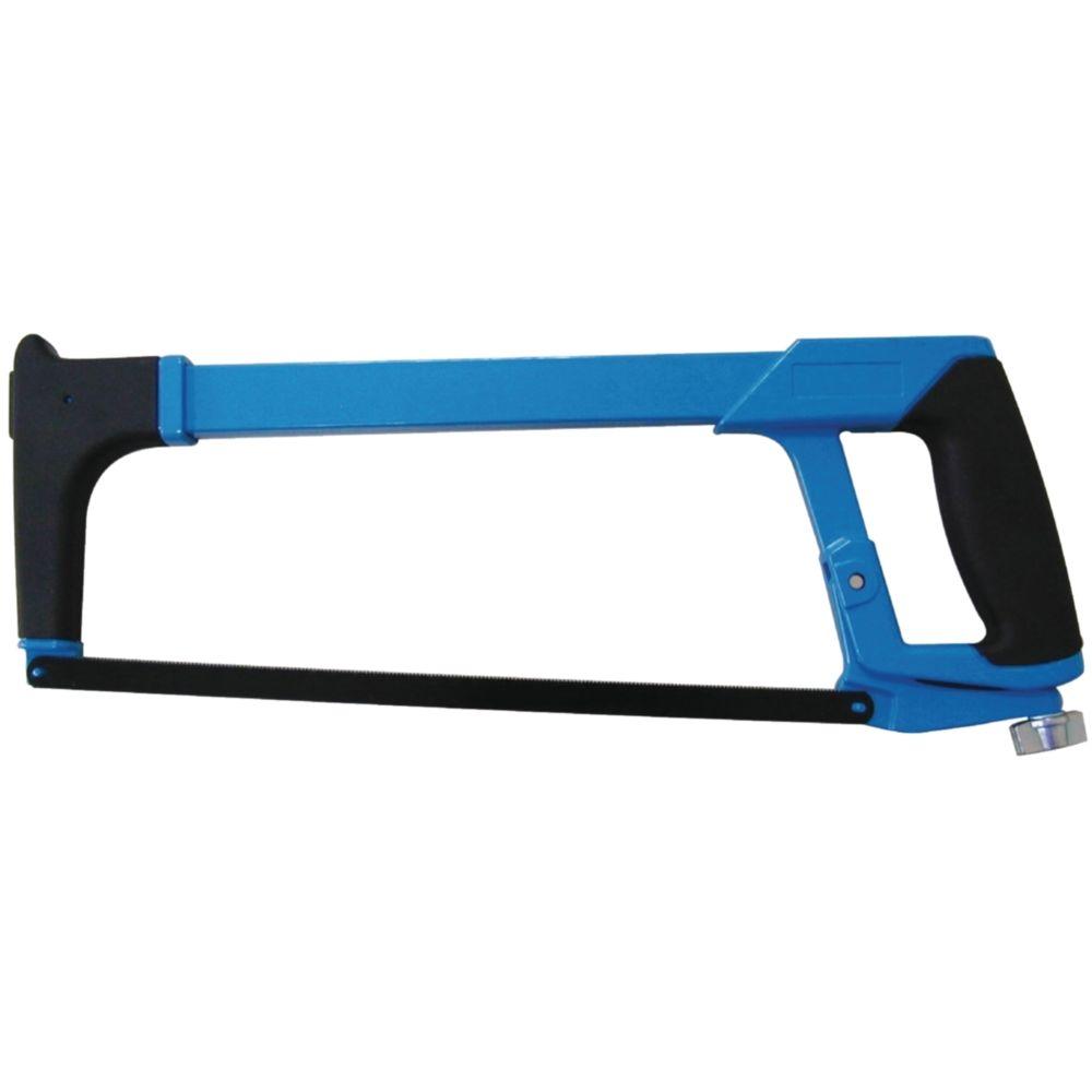 Novipro monture scie à métaux novipro poignée revolver lame orientable avec magasin de lames 145x395 rouge - od