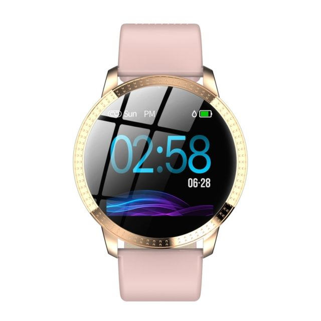 Yonis - Montre Connectée Femme iOs Android Smartwatch Sport Cardio Rose - YONIS Yonis   - Yonis