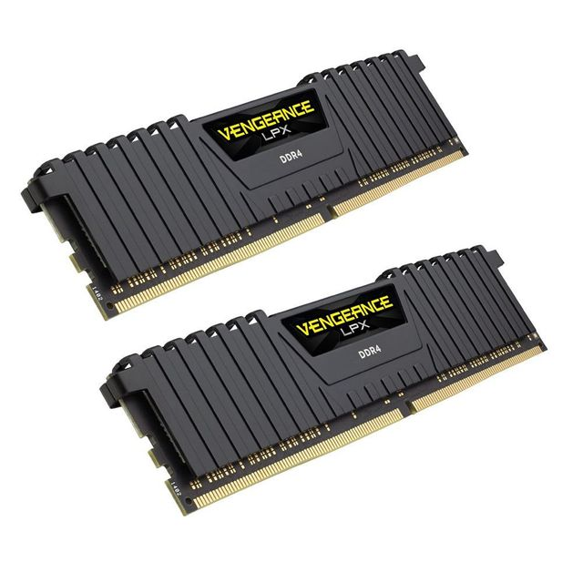 Corsair - Vengeance LPX 16 Go (2 x 8 Go) DDR4 2400 Mhz C16 1.2V pour AMD Ryzen and Intel 200 - Black - RAM PC Fixe