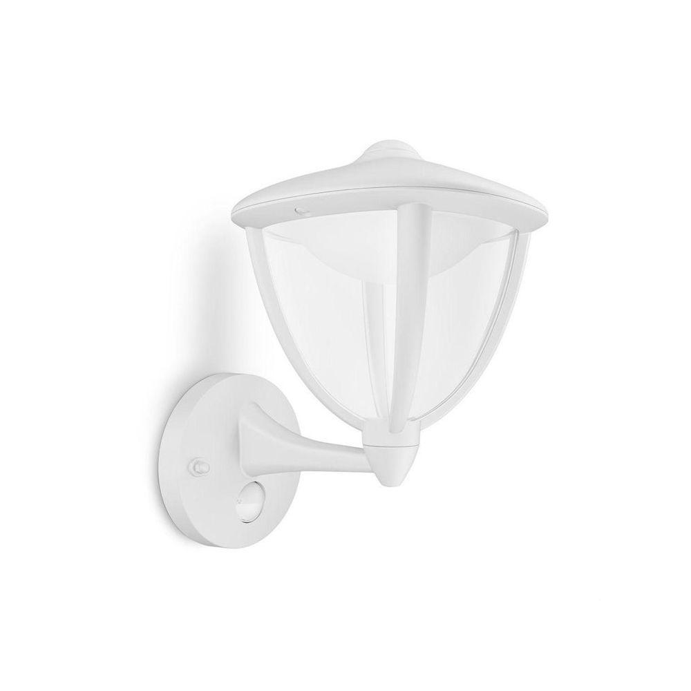Philips ROBIN-Applique d'extérieur Montante LED avec Détecteur H26cm Blanc Philips