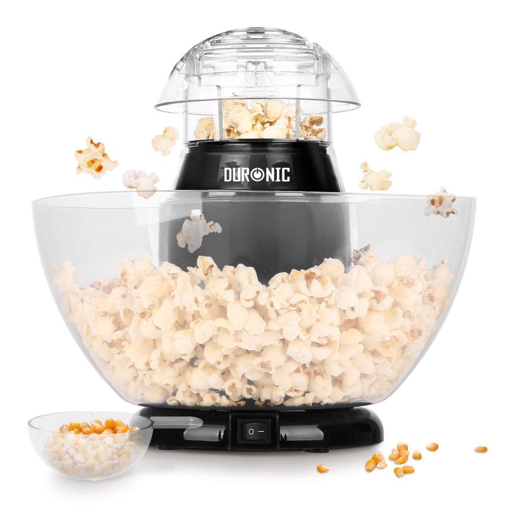Duronic Duronic POP50 Appareil à Popcorn - Capacité de 50 gr avec bol démontable - Cuisson électrique à air chaud de mais souffl