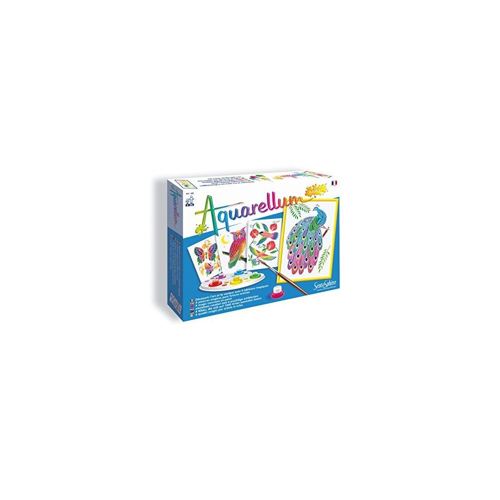 SentoSphere Sento Sphere SEN668A Artistic Junior Watercolor Art Kit with 4 Magic canvases in The Park