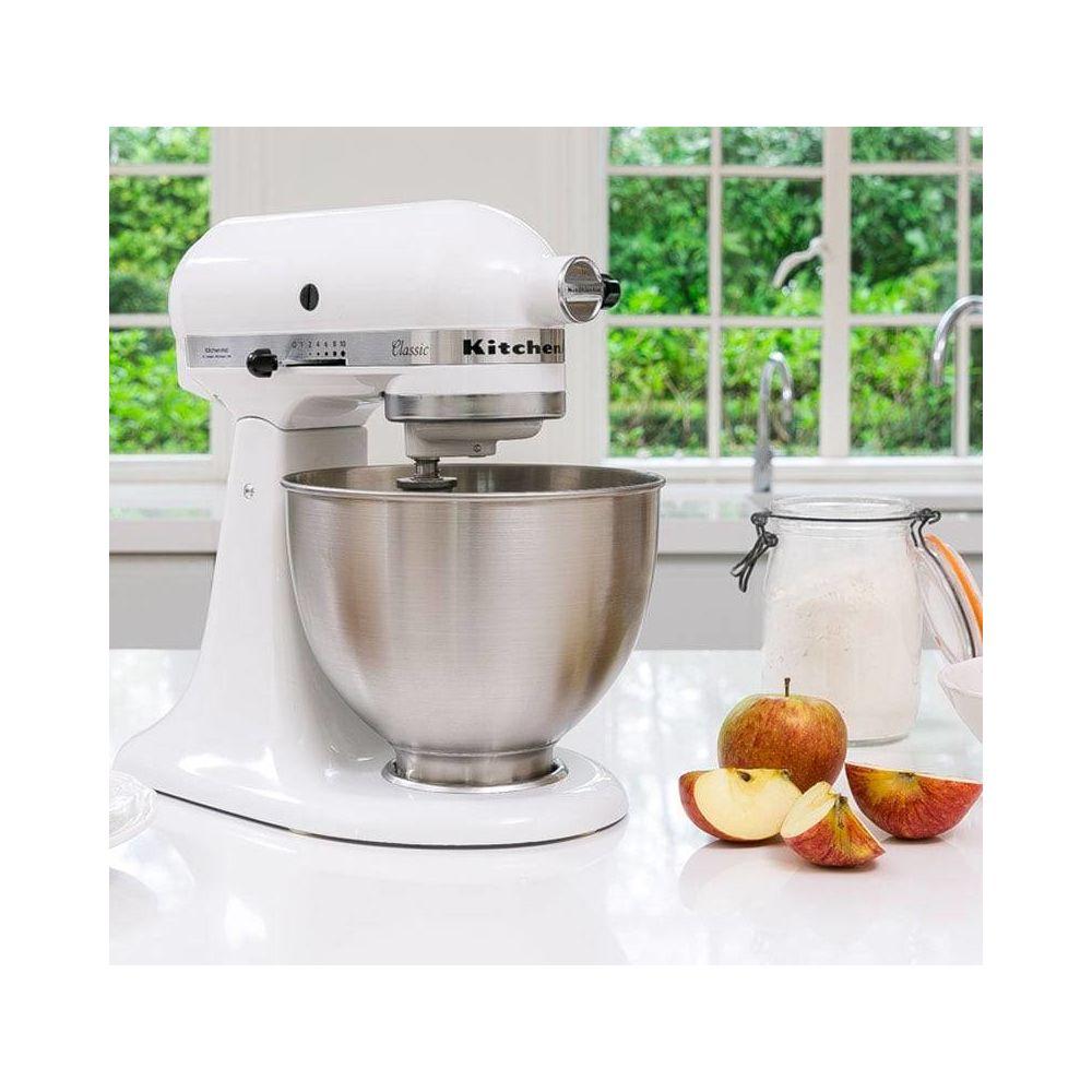 Kitchenaid robot multifonction de 4,3L 275W blanc argent