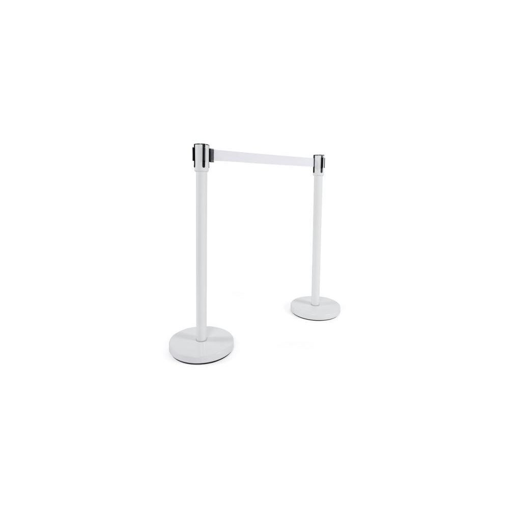Kokoon Design Potelet blanc en métal Sullivan
