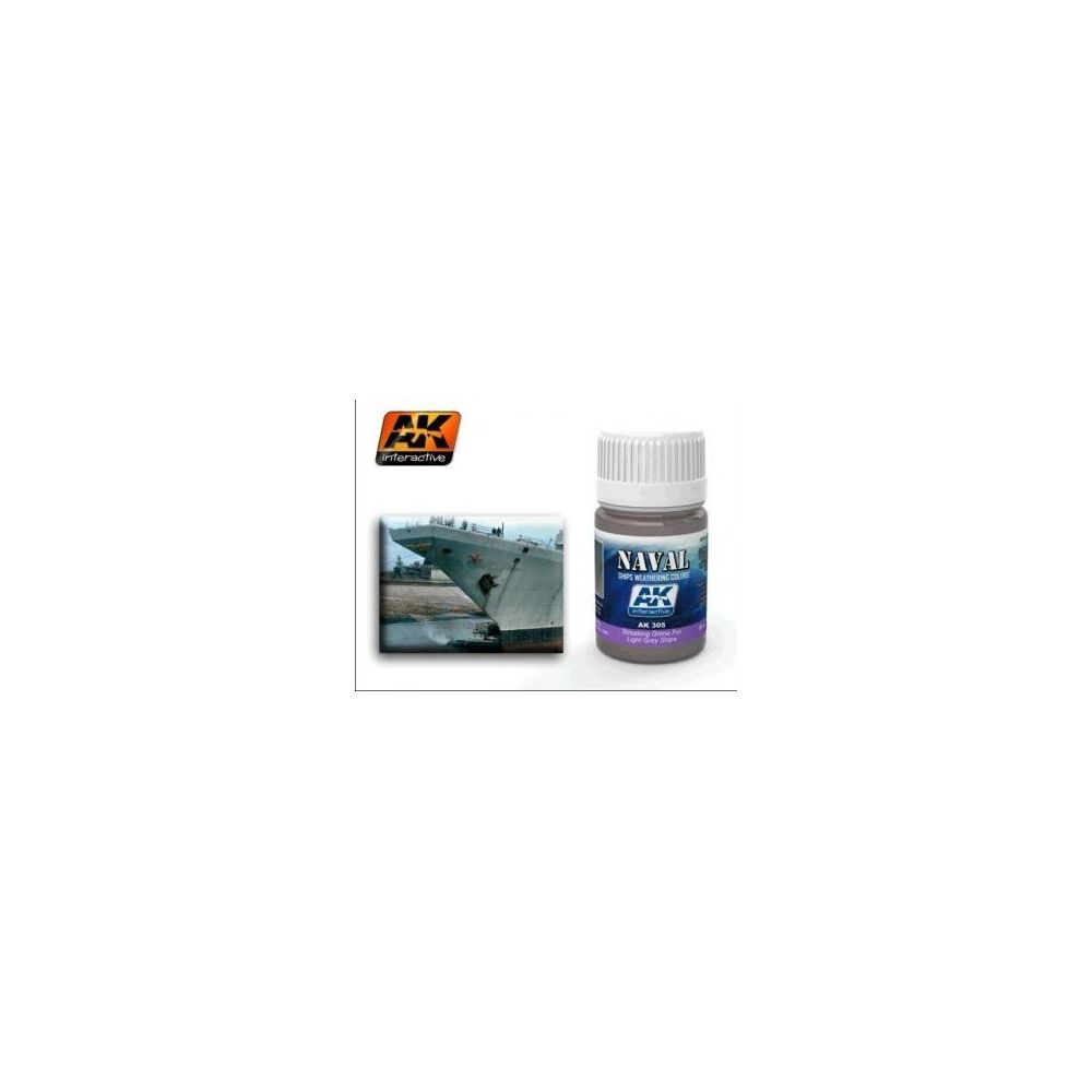 Ak Interactive AK Interactive Naval Ships Weathering Colors STREAKING GRIME FOR LIGHT GREY SHIPS AK 305