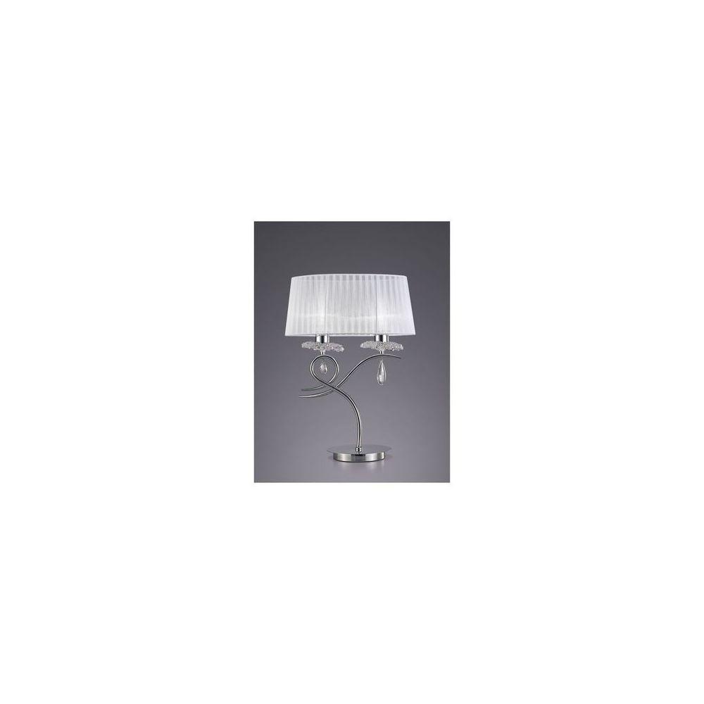 Boutica-Design Lampe à poser LOUISE Chromé 2x13W - MANTRA - 5278