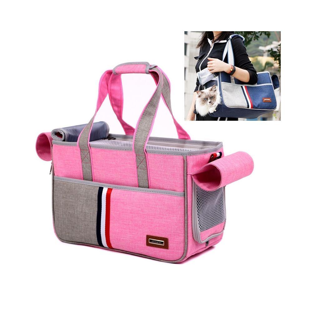 Wewoo DODOPET Outdoor Portable Oxford Tissu Chat Chien Pet Carrier Bag Sac à main à bandoulièreTaille 29 x 20 x 51 cm Rose
