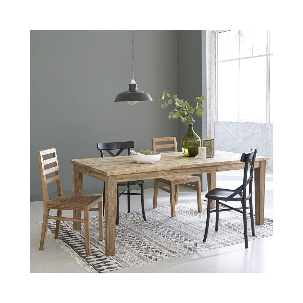 Bois Dessus Bois Dessous Table extensible en bois de teck recyclé 8 à 12 couverts