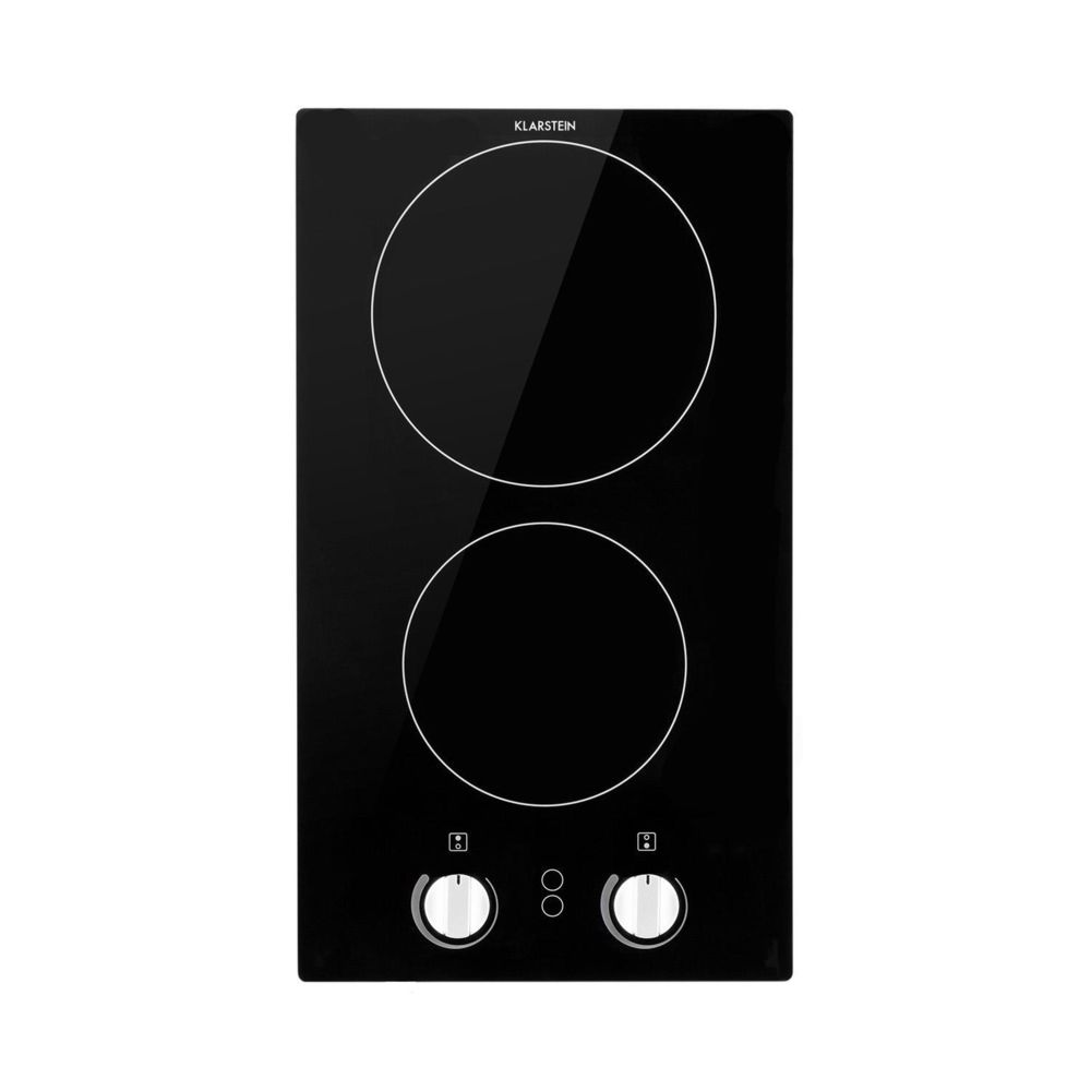 Klarstein Klarstein EasyCook Domino Plaque de cuisson vitrocéramique encastrable 3000W max - 2 feux (1200W + 1800W) - Noire