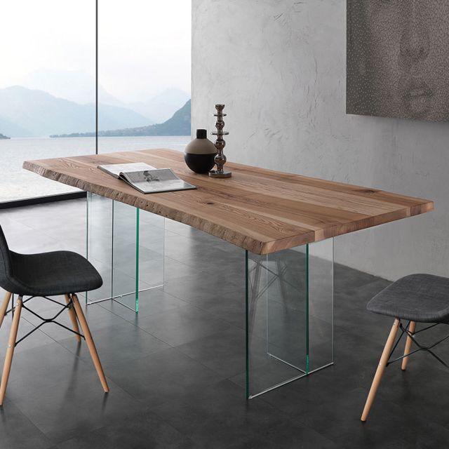 table a manger en bois massif et verre ilona 2
