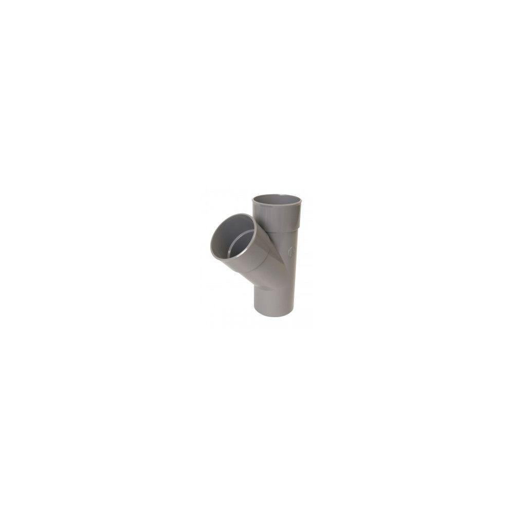Nicoll Culotte simple 45° MF PVC pour tube d'évacuation gris - Ø 125 mm