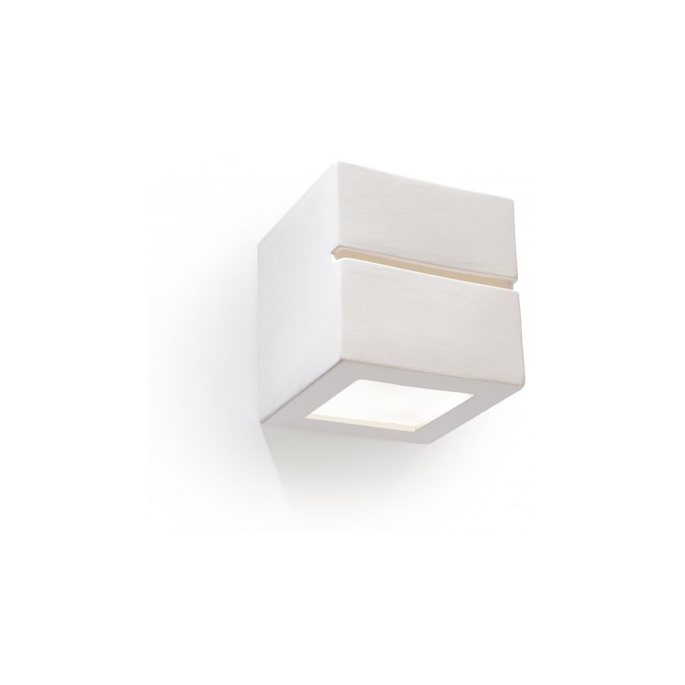 Luminaire Center Applique murale LEO LINE céramique blanc 1 ampoule