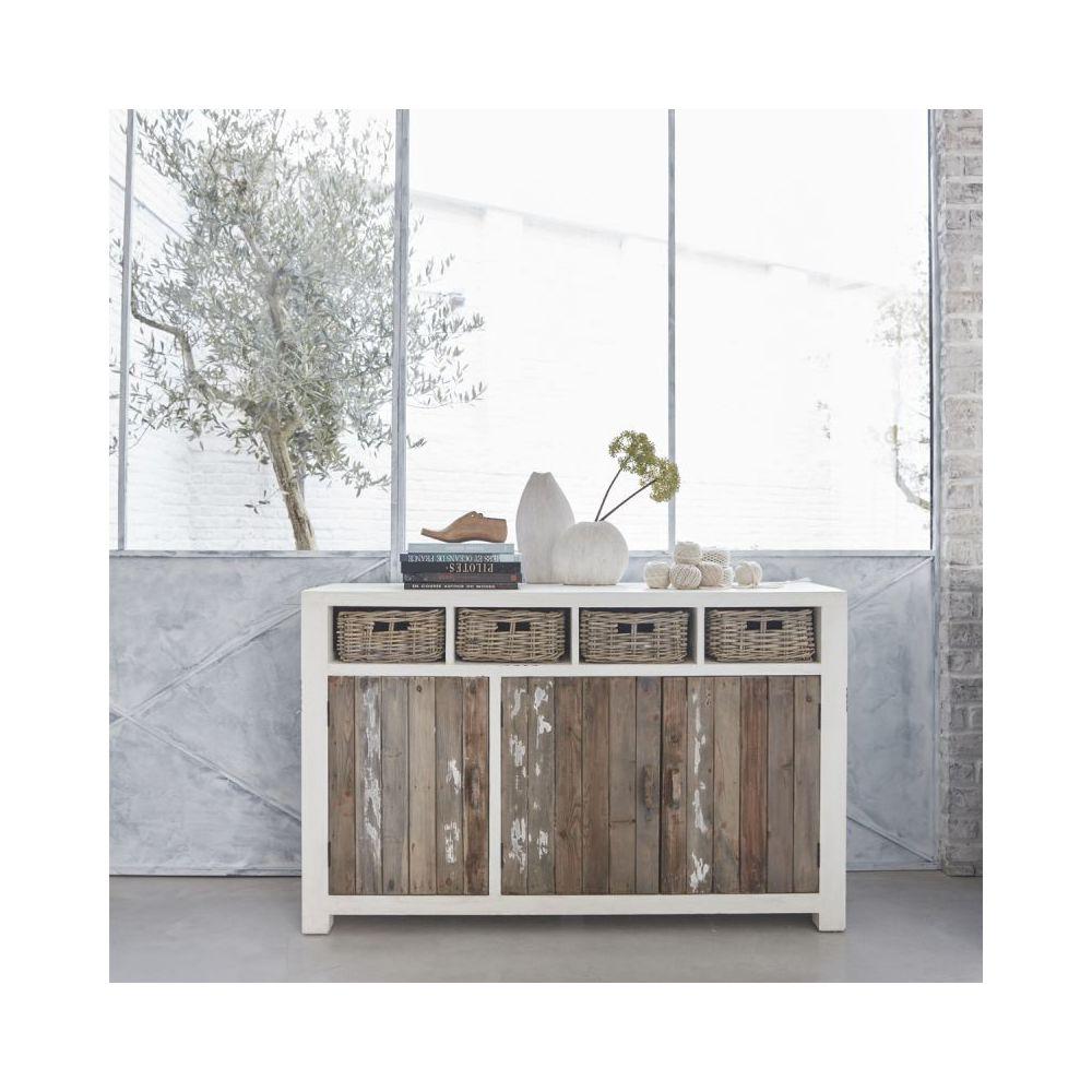 Bois Dessus Bois Dessous Buffet en bois de pin recyclé 3 portes 4 tiroirs