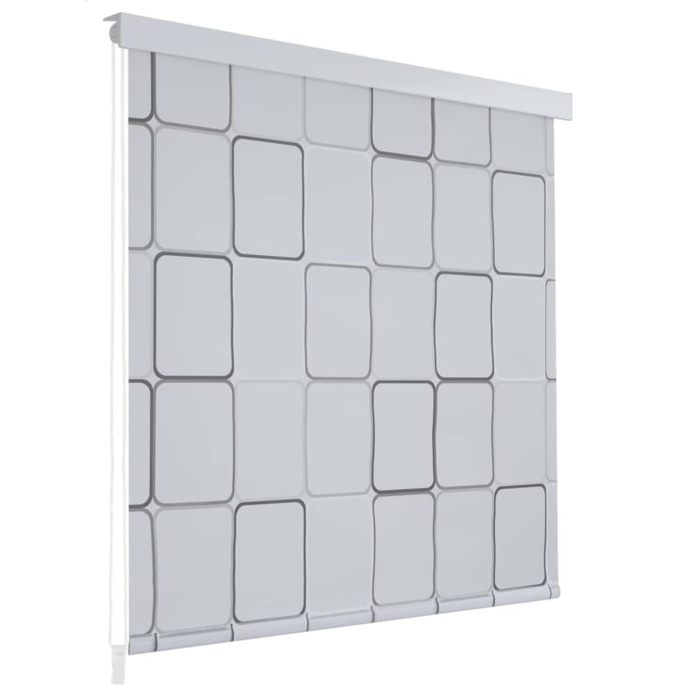 Vidaxl Store roulant de douche 160 x 240 cm Carré - Maison et jardin/Accessoires de salle de bain/Rideaux de douche   Blanc   B