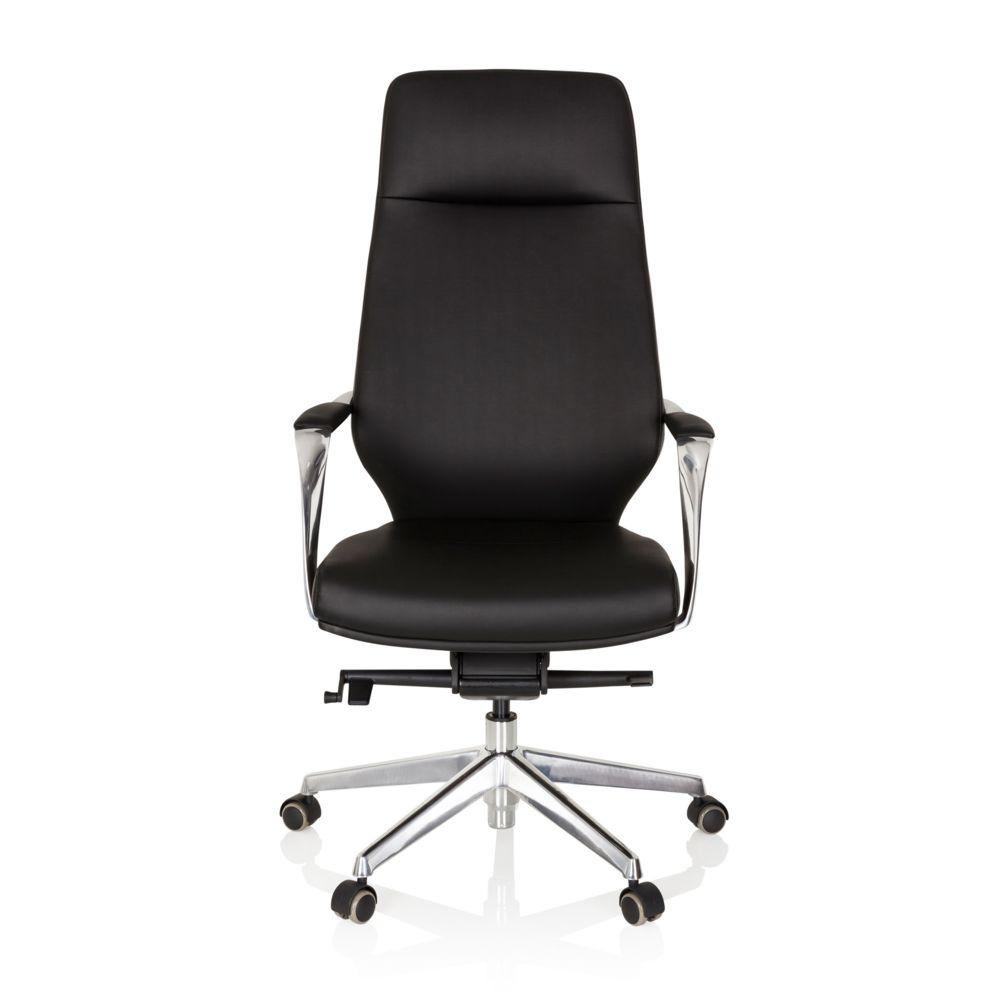 Hjh Office Fauteuil de direction / chaise bureau VELVET simili cuir noir hjh OFFICE