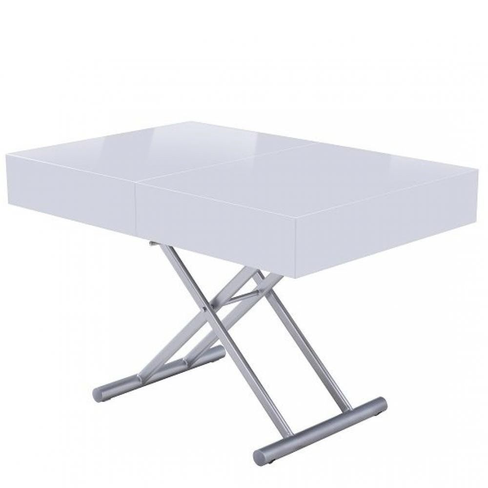 Inside 75 Table relevable extensible HARIE laquée blanc