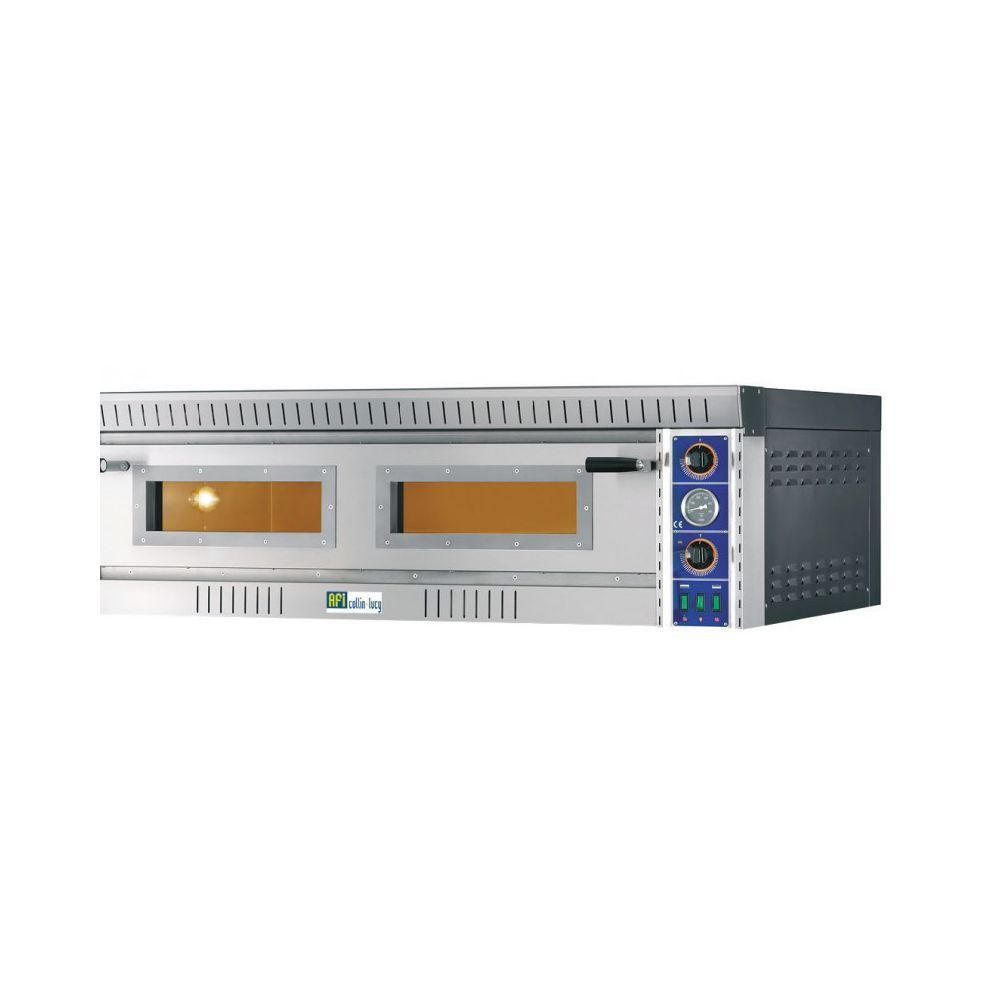 Materiel Chr Pro Four à Pizzas entièrement Réfractaire 2 x 6 pizzas - 14,4 kW - AFI Collin Lucy -