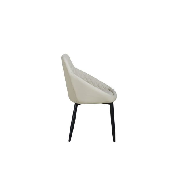 Homemania Chaise Auriga Contemporaine Beige - Pour le Bureau, Salon, Cuisine, Chambre, Table