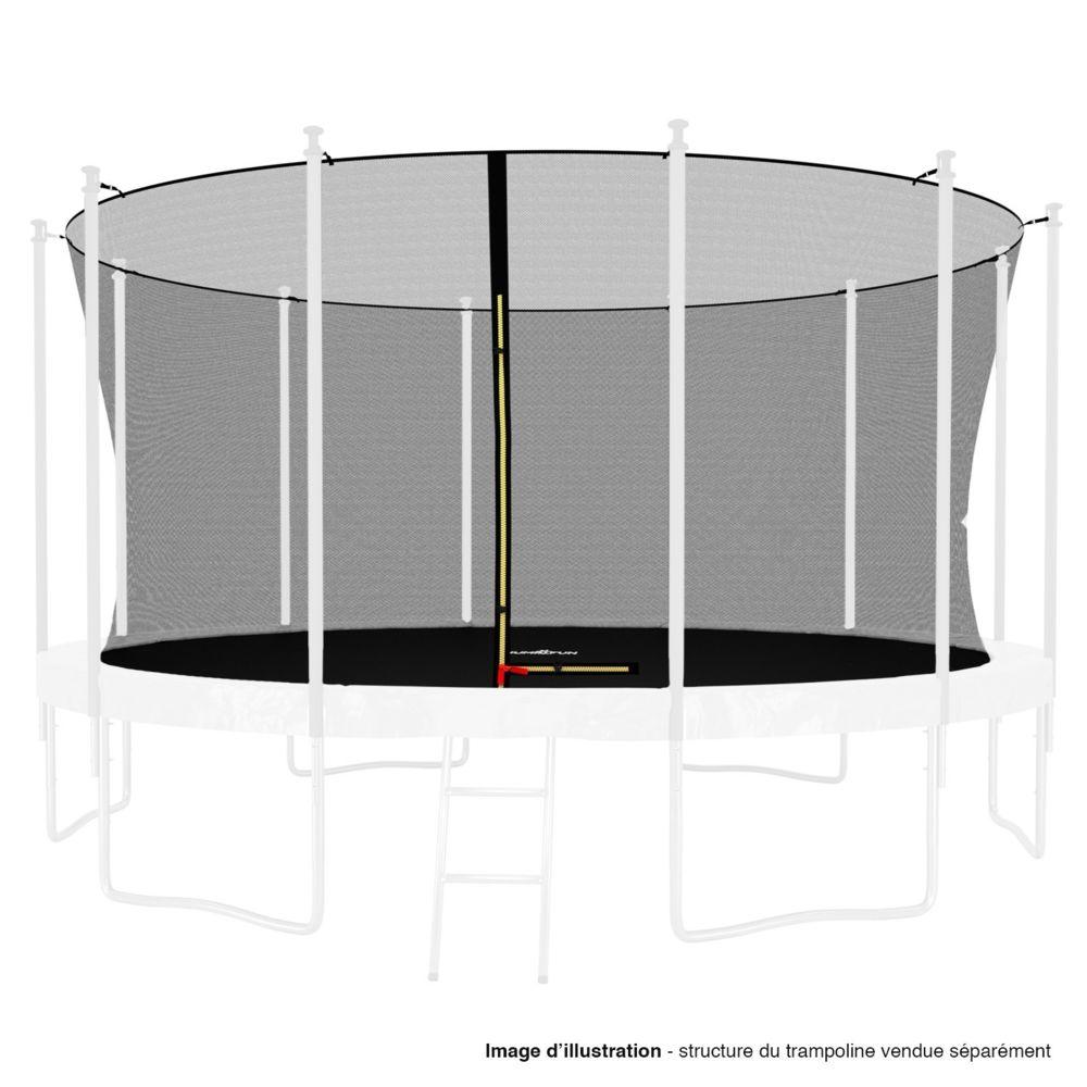 Kaia Sports Filet intérieur de sécurité pour trampoline avec bouchons hauts de perches et ficelle : ø 14Ft, 12 Perches