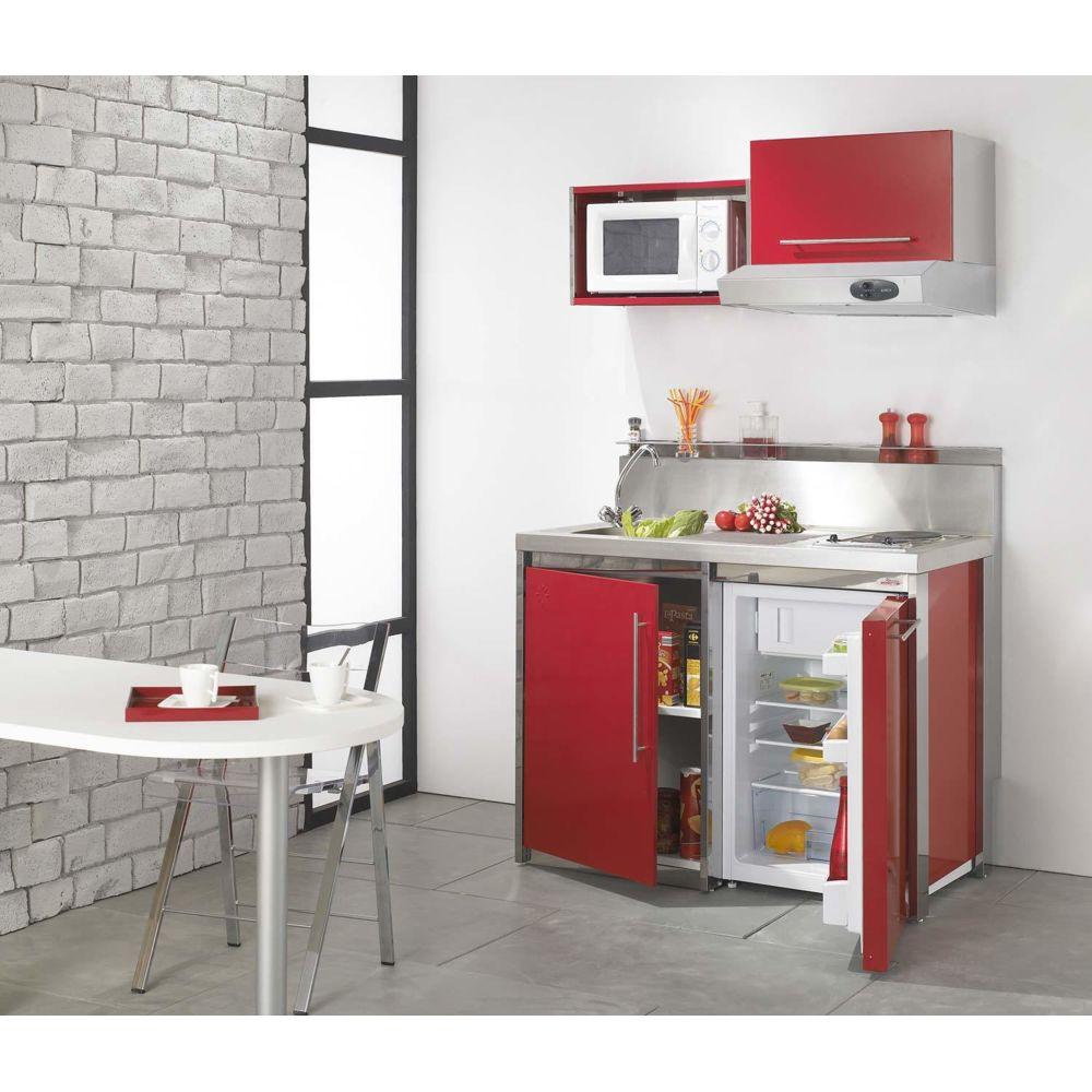 Moderna Kitchenette METALLINE Haut Red
