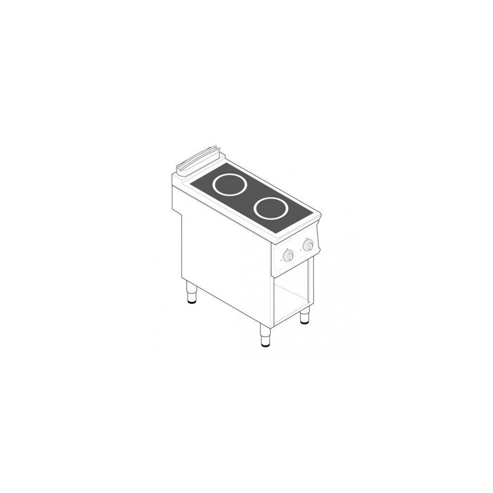Materiel Chr Pro Plaque de cuisson électrique à induction - 2 plaques 10 kW - gamme 900 - Tecnoinox -