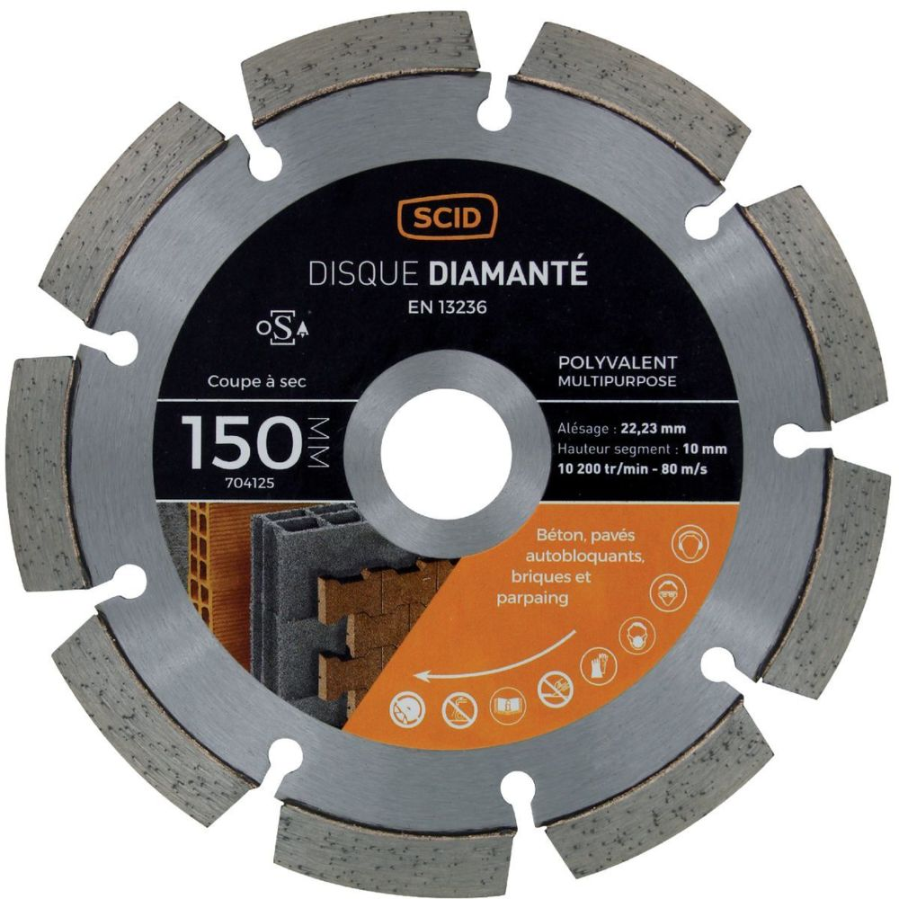 Scid Disque diamanté polyvalent milieu de gamme SCID Ø150mm