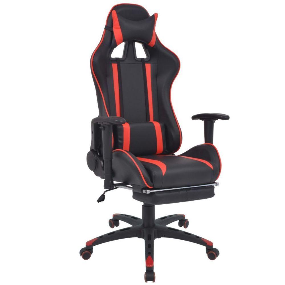 Vidaxl Chaise de bureau inclinable avec repose-pied Rouge - 20168 | Rouge