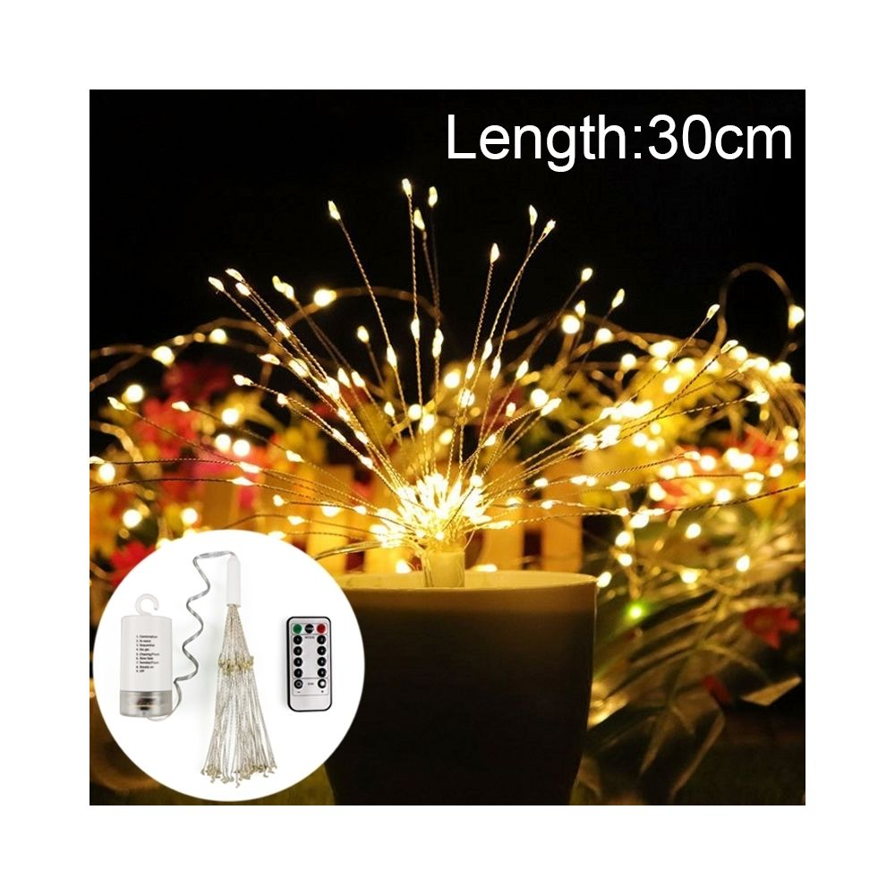 Wewoo Guirlande LED lumineuse en fil de cuivre 30 cm feux d'artifice boule d'explosion, boîte 150 piles à DEL décorative avec