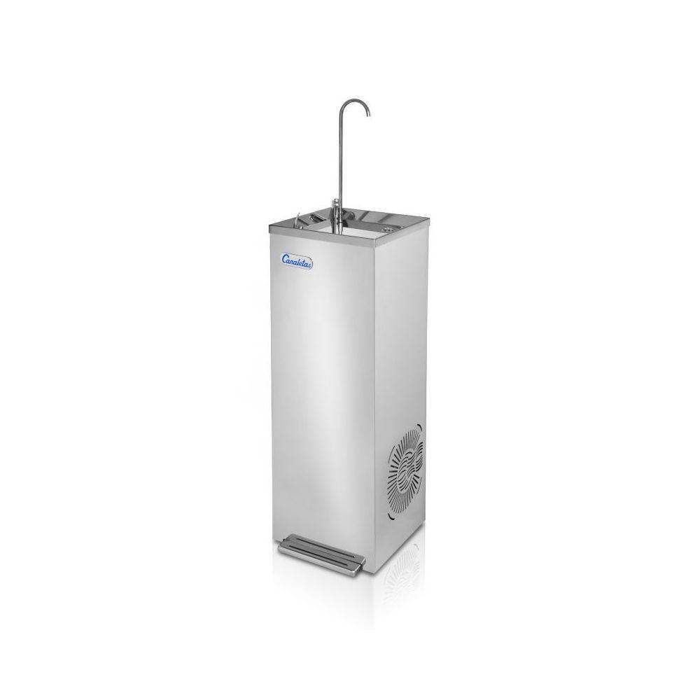Materiel Chr Pro Fontaine à Eau Col de Cygne - Avec ou Sans Pédale - Canaletas - Jet 3 températures pédale, bouton et pédale