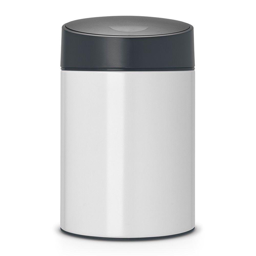 BRABANTIA Poubelle slide bin 5 litres avec couvercle en plastique